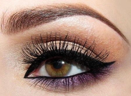 An alternate way to wear purple shadow.