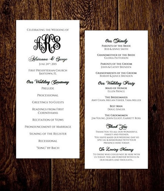 19 best WEDDING FAN PROGRAMS images on Pinterest Fan programs - wedding program template