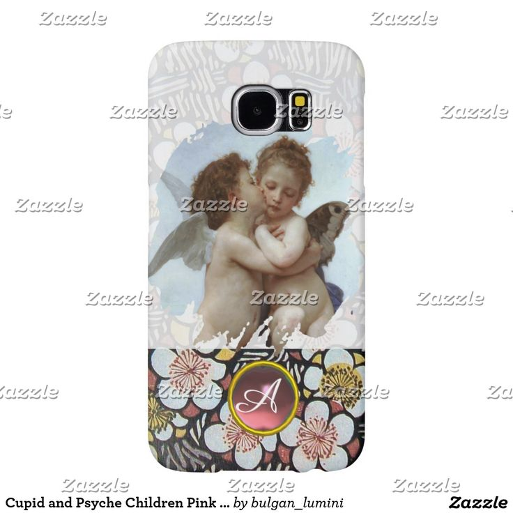 Cupid and Psyche Children Pink Gemstone Monogram Samsung Galaxy S6 Cases #beauty #lovers #love #angels #fineart #flower