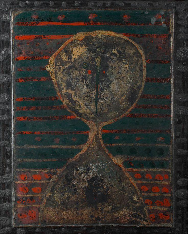 HENRYK MUSIAŁOWICZ (1914 - 2015)  Z CYKLU   tech. własna, płyta / 58 x 48 cm