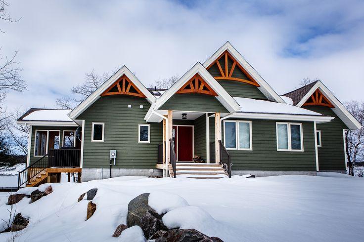 Beautiful Custom Cottage - 4 season Cottage Living - Cedarland Homes - http://www.cedarlandhomes.ca -