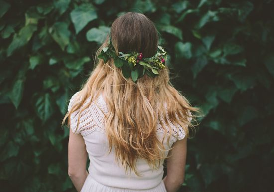 greenery head crown | Photo by Paige Lowe