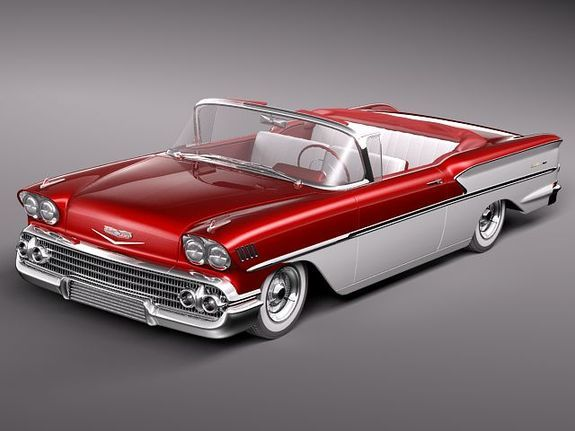 WHY OH WHY can't these cars be affordable any more?? :-( ... 1958 Chevy Bel Air Convertible