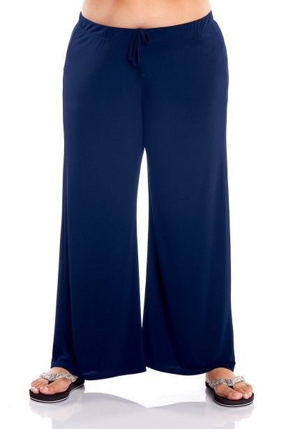 Comfortable and Chic these  wide leg plus size pants are the perfect addition to your travel wardrobe.  Day to night, Pool to Party - you'll love the look and feel of these plus size lounge pants from Always For Me.