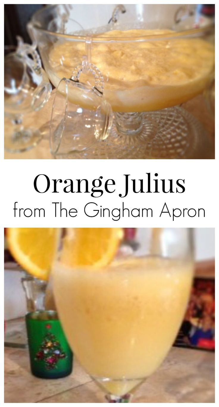 Orange Julius: Make your holidays really special with this delicious, refreshing, easy-to-make drink.