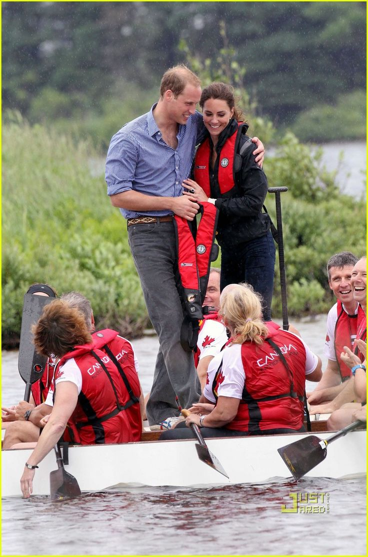 Prince William and his wife, Kate, share a sweet moment after a boat race on Monday (July 4) in Charlottetown, Prince Edward Island, Canada.