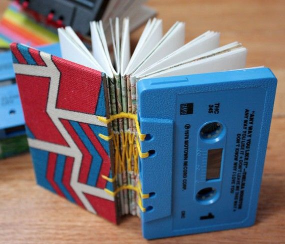 #recycle #notebooks #cassettes