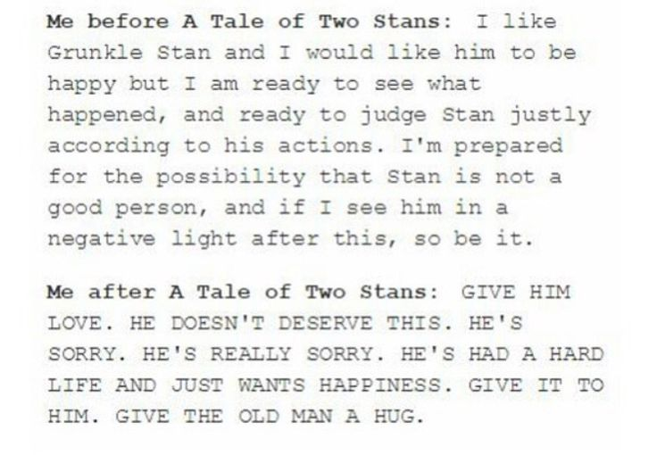 STAN IS JUST A BIG OLD HUG FOR HIS FAMILY HE CARES SO MUCH