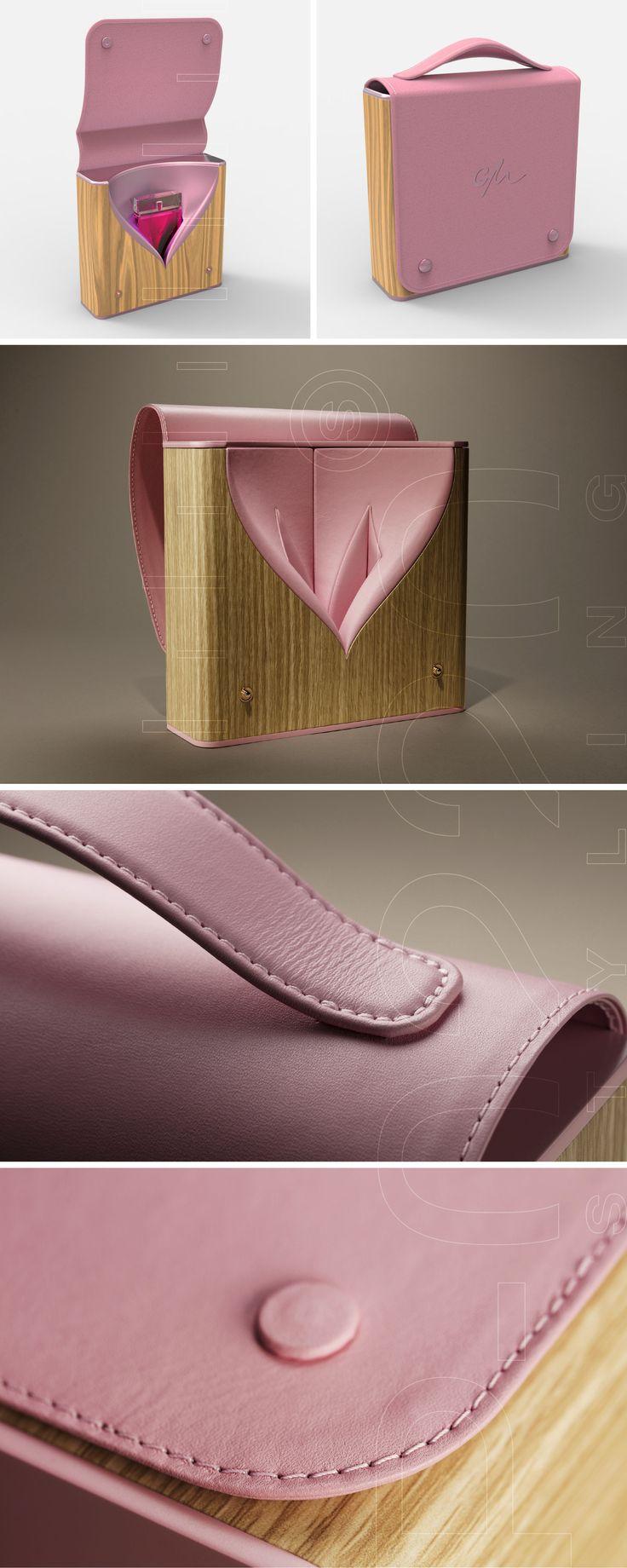 100% PACKAGING & DESIGN SA | Écrin Parfum / Perfume Box designed by Pozzo di Borgo Styling. Fabriqué par / Made by RS Agencement Steiner, Gainerie Moderne, Huguenin-Sandoz.