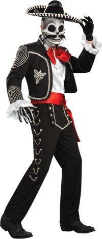 El Senor Erwachsenen Kostüm - Tag der Toten Kostüme