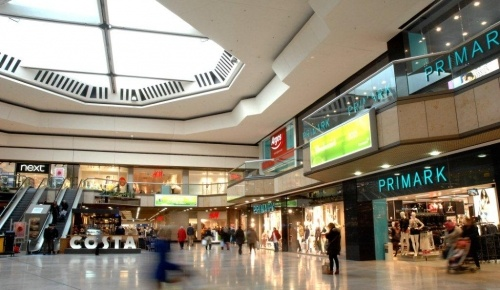 Inside Queensgate Shopping Centre