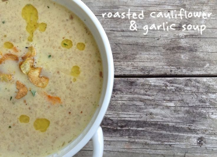 Want a Simple Solution For Weight Loss? Stop Dieting.  Start incorporating foods that are nutrient dense and low in calories, like this amazing roasted cauliflower and garlic soup.  Pair this soup with a portion of lean protein for a complete meal that will improve your health, performance, and body composition.