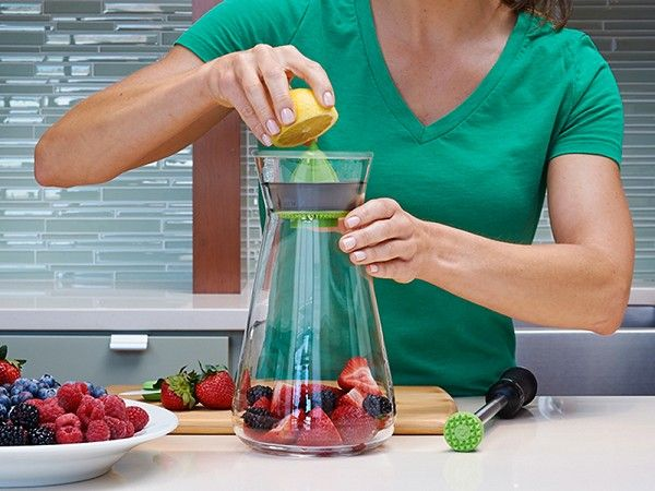 This infusion pitcher, discovered by The Grommet, turns water into a delicious beverage infused with flavors from your favorite fruits and herbs.