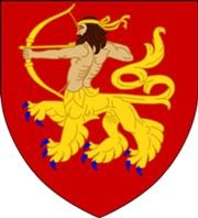 A lion-centaur, as supposedly used in the heraldic arms of King Stephen of England. (Wikipedia)