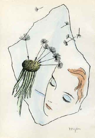 A Girl with the Dandelion - Toyen