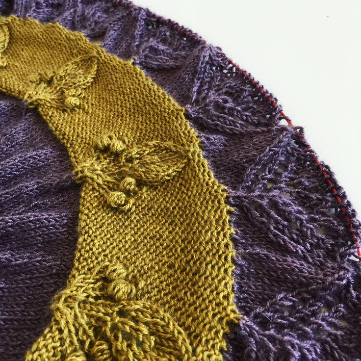 A glimpse of my upcoming shawl design, worked in Asia yarn from Lang Yarns - silk & yak | Ravelry pattern | lace knitting