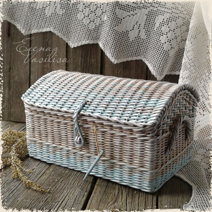paper weaving baskets | Chest basket weaving paper | DIY - Upcycled Newspaper | Pinterest