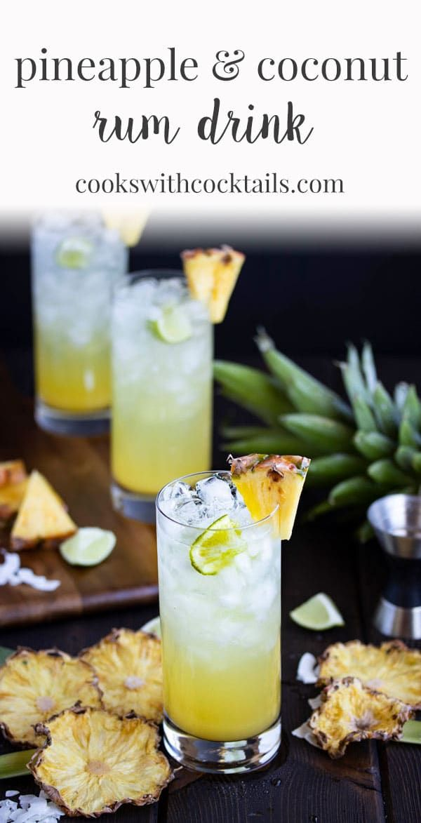 These pineapple and coconut rum drinks are like summer in your glass! We include…