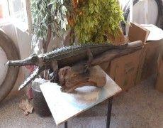 Kenya Crocodile Statue