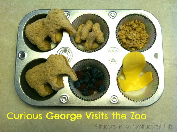Curious George Muffin Tin Meals on Structure in an Unstructured Life