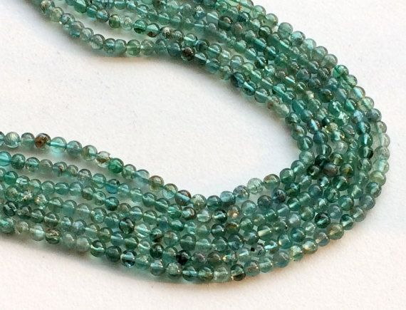 WHOLESALE 5 Strands Green Apatite Beads Green by gemsforjewels