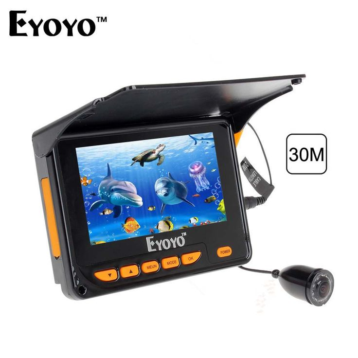 "30M Underwater Video Fishing Camera Fish Finder 4.3"" LCD Monitor 10pcs IR LED Angle 150 degrees with Sunshield Free Shipping"