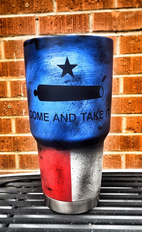 Come and Take it custom yeti by Amarillo Custom Cerakote | Custom