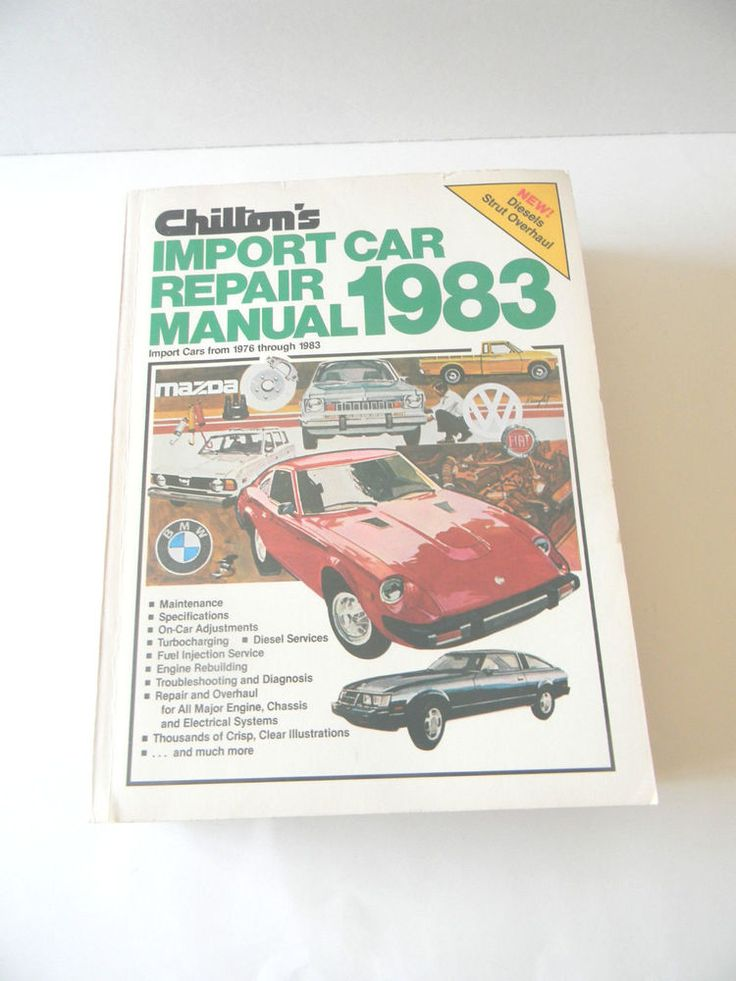 8 best auto repairs images on pinterest repair manuals engine and import car repair manual chiltons 1983 cover import cars from 1976 through 1983 fandeluxe Image collections