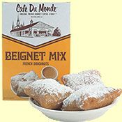 Cafe du Monde is THE place to get Beignets. Such a bargain and such a treat! Buy the mix and make it at home too! If it's not all over the place, it's not the real thing!