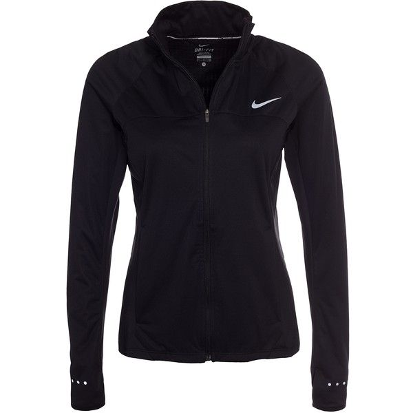 Nike Shield Fz 2.0 Jacket found on Polyvore featuring activewear, activewear jackets, black, jackets, sports fashion, womens-fashion, nike, nike sportswear, logo sportswear and nike activewear