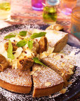 Videorecept voor Vijgencake met honingcrème en geroosterde amandelen   Solo Open Kitchen