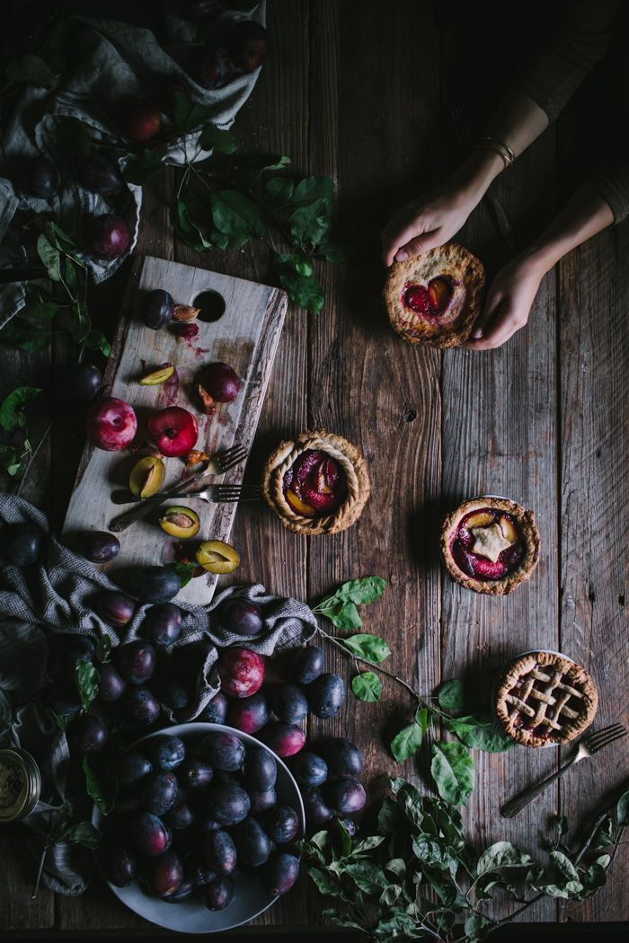 Plum & Pluot Pie For One