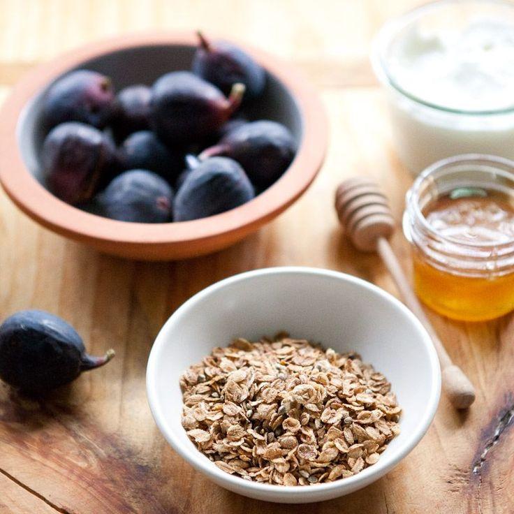 Honey-Roasted Fig, Almond and Toasted Coconut Parfaits | Honey