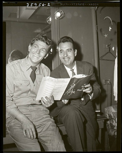 Vint 4x5 Negative ANDY GRIFFITH & TENNESSEE ERNIE FORD