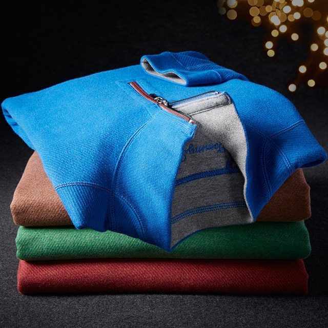 #TommyBahama #sweaters at #DestinationXL, next to Stuft Pizza. #bigandtall #giftsforguys #holidays