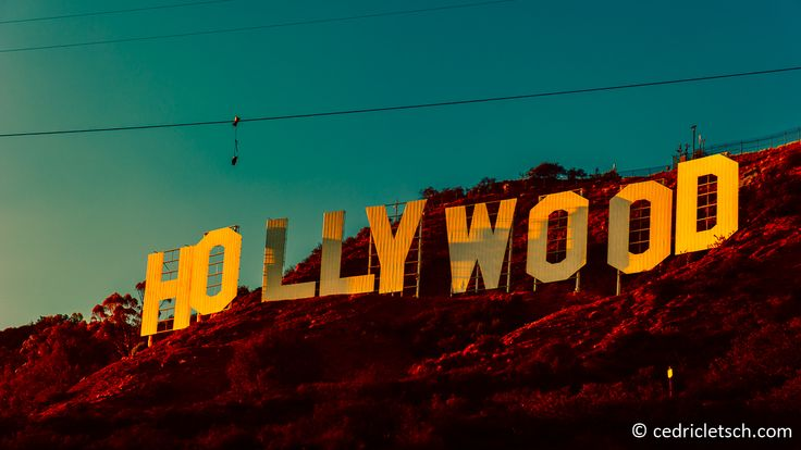 the Hollywood sign... at sunset | Californiaaaa Xx ...  the Hollywood s...