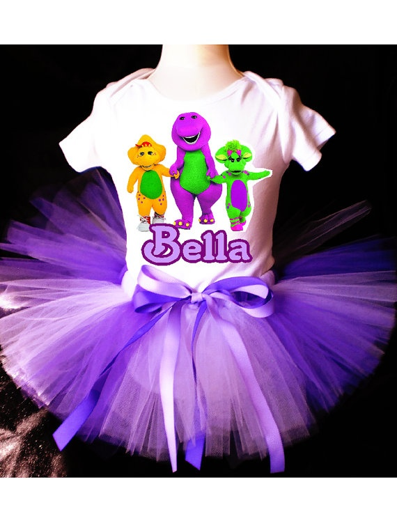 or this ..  Barney and Friends Tutu Birthday Outfit by PrettyAsAPrincess2, $24.99