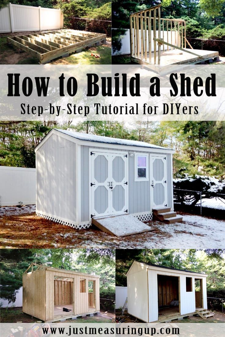Easy to follow instructions on building a gorgeous shed