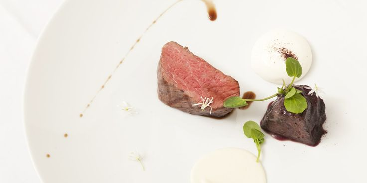 Grain-fed beef fillet with olive oil sabayon and red wine sauce