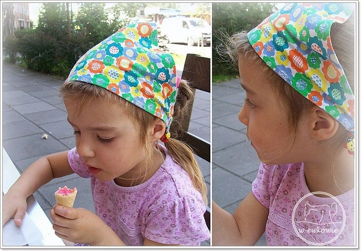 w-ewkowie: Jak uszyć letnią chusteczkę dla dziewczynki , czyli jak ja to robię…..