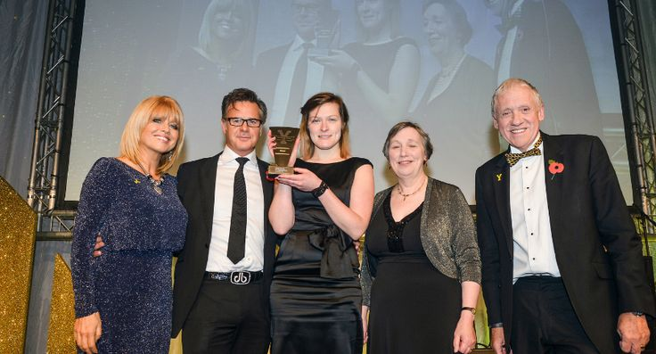 David Beasley presenting the award for Small visitor attraction of the year. With Christine Talbot and Harry Gration.