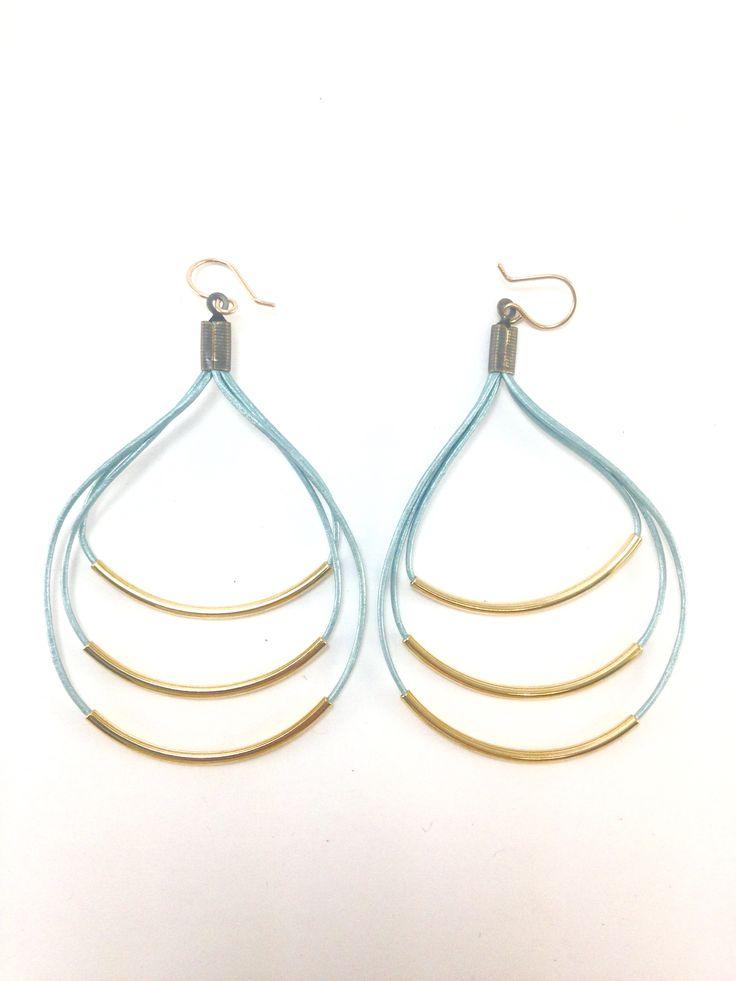 Teocalli Bubble Earrings   #jewelry #earrings #mixedmedia #metal #leather #oldblood