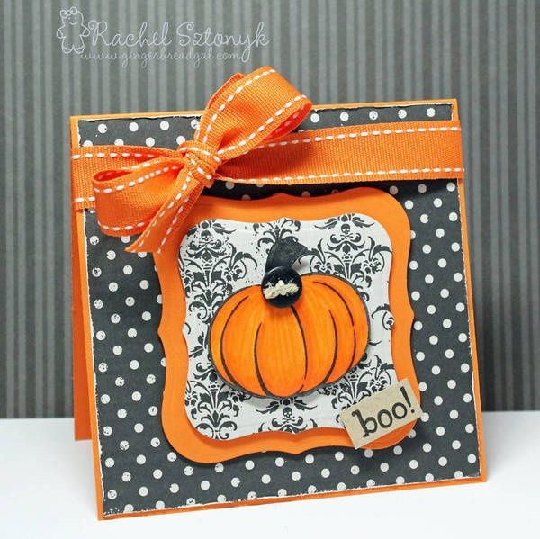 Halloween Card Making Ideas Part - 20: Home Made Halloween Cards | Boo! Halloween Card | Homemade Cards