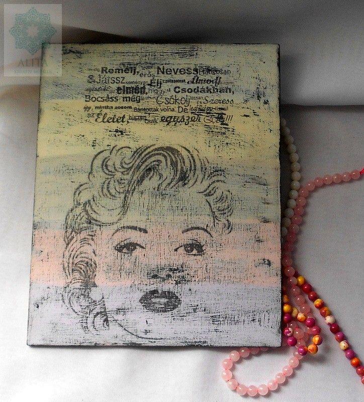 Idézetes Marilyn Monroe tábla