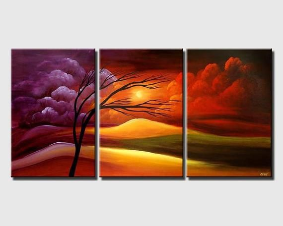 Modern Landscape Painting Acrylic On Canvas By Osnat Made To Order Pinturas Abstractas Pinturas Arte Abstracto Pintura