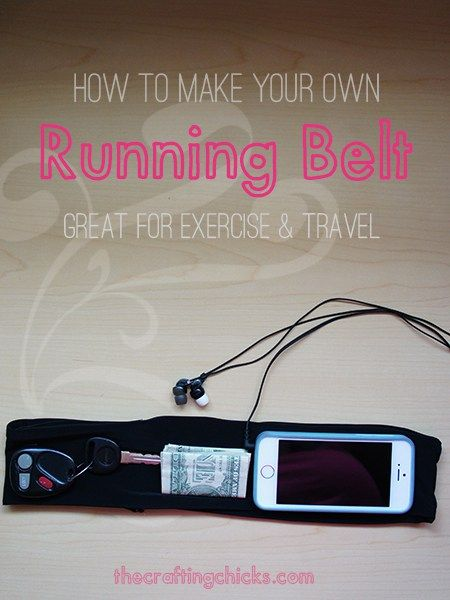 How to Sew a Waist Pouch/Belt for Jogging - Free Tutorial