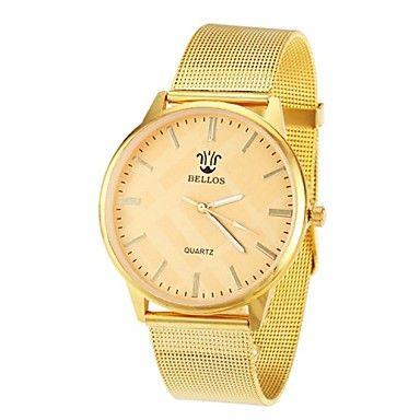EUR € 8.63 - vrouwen gouden kast legering band quartz analoog horloge (gouden), Gratis Verzending voor alle Gadgets!
