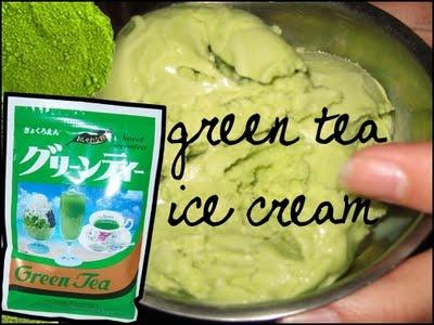 groene thee poeder, heerlijk om zelf ijs te maken:  matcha aisukurimu