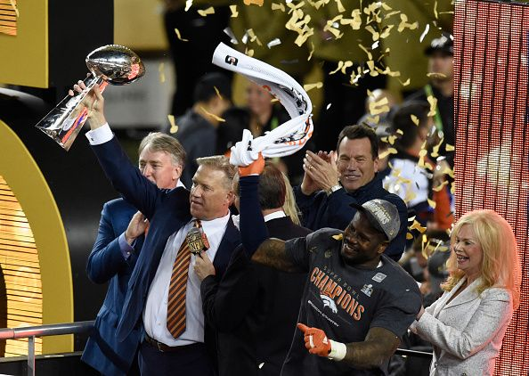 John Elway celebrates the Broncos' Super Bowl 50 victory in Santa Clara, Calif. (John Leyba, The Denver Post)  It's official. The Broncos can celebrate their Super Bowl 50 victory over the Panthers now that it's been formally recognized by the House of Representatives.  Thank goodness.
