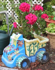 Truck planter! This is from one of our events celebrating Earth Week.